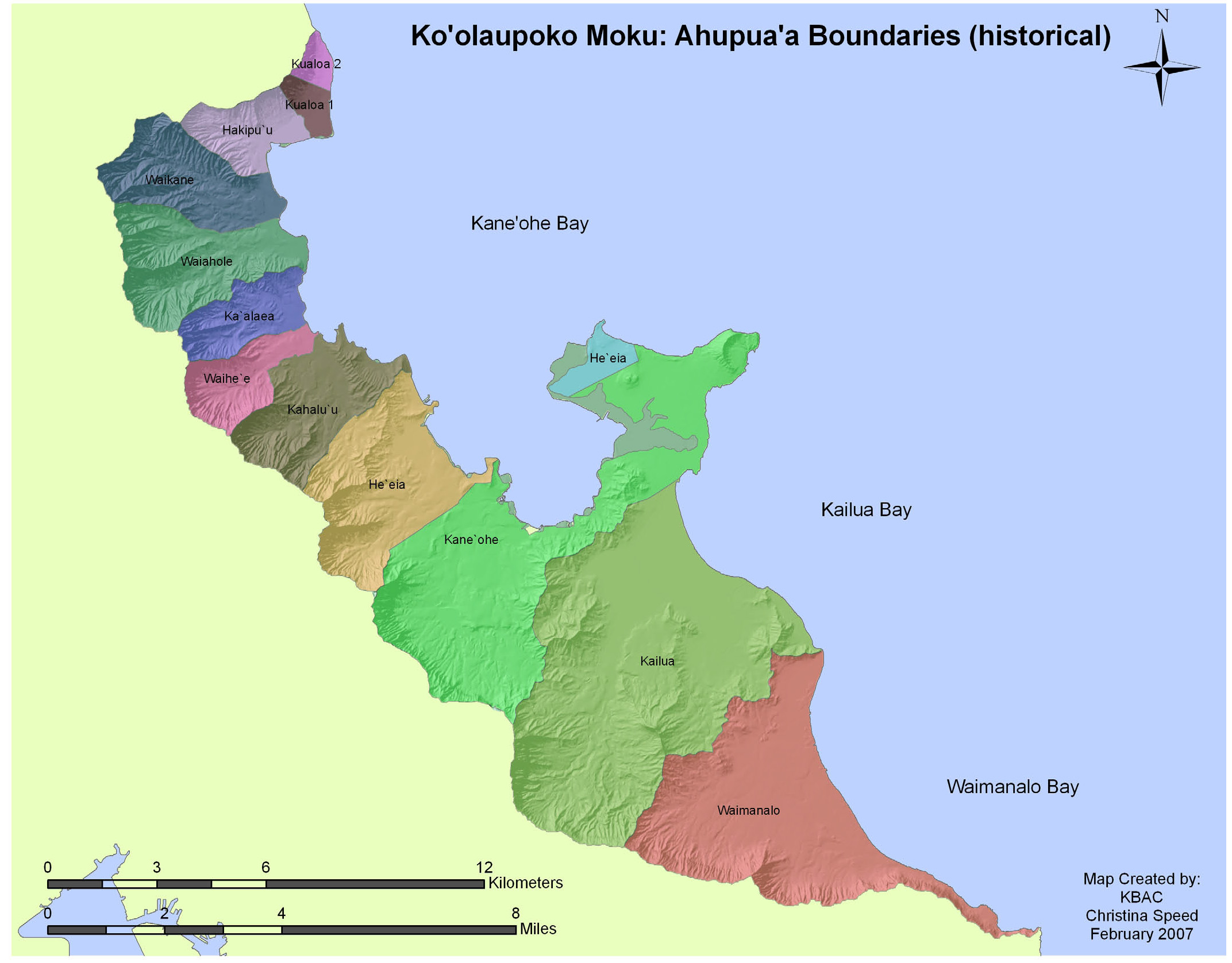 Historic ahupuaa map for Koolaupoko