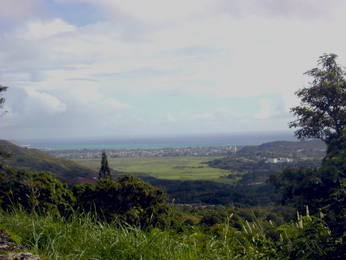 Kawai Nui and Kailua seen from the Maunawili Demonstration Trail